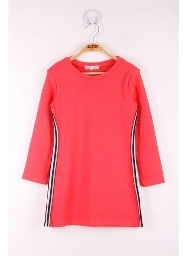 Toontoy Kids Toontoy Kız Çocuk 2 Yandan Şeritli Elbise Renkli